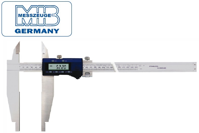 Elektroninis slankmatis, 1000mm, DIN862, Skalė 0,01mm, paklaida 0,07mm lūpos - 150mm, MIB