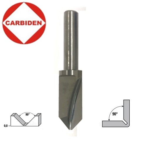 10mm (2,0) x 6 x 50, 90°, Graveris kietmetalinis, AZV610902.0