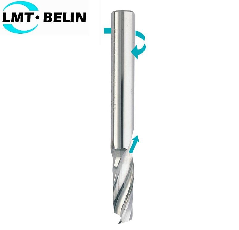 10 x 10 x 30 x 75mm, Z- 1, Freza kietmetalinė, plastmasei frezuoti, drožlė į viršų, poliruota, skirta, BELIN-Y, 13100