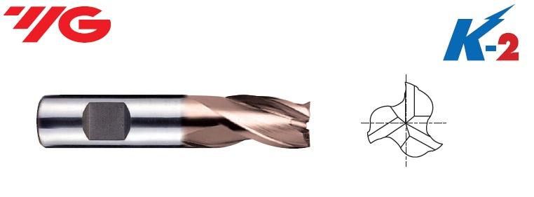 1 x 2 x 6 x 34mm, Z-3, Freza HSSCo8%, su TiAlN danga, GB553010