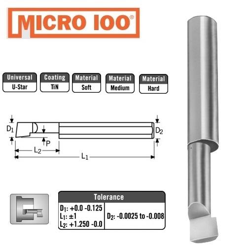 2mm x 8 x 4 x 50 ištekinimo įrankis, Micro100