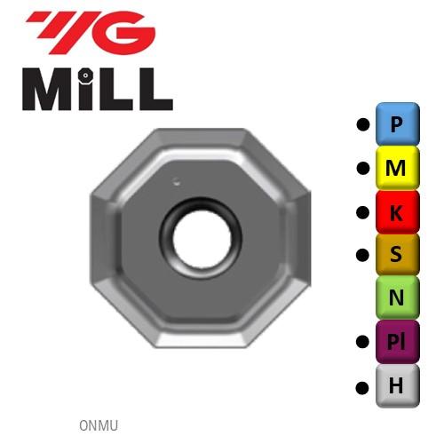 ONMU080608-YG613, Frezavimo plokštelė, kietmetalio su danga, metalo frezavimui, YG