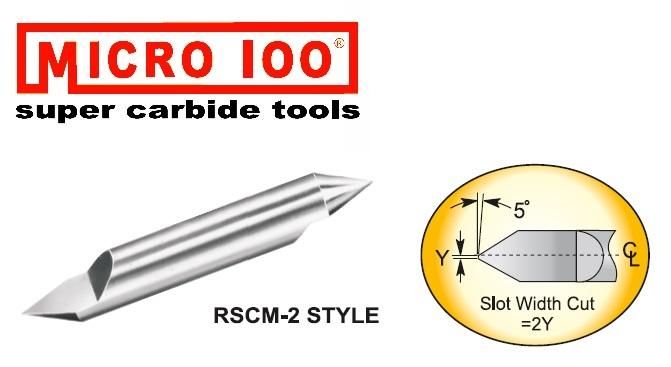 Graveris kietmetalinis 60 laipsnių, dviejų galų, su TiAlN danga, D-0,1mm, d-3mm, Micro-100, RSCM-030-2X