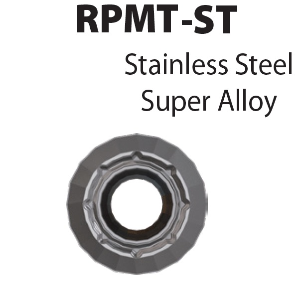 RPMT1204M0-ST-YG613, Frezavimo plokštelė, kietmetalio su danga, metalo frezavimui, YG