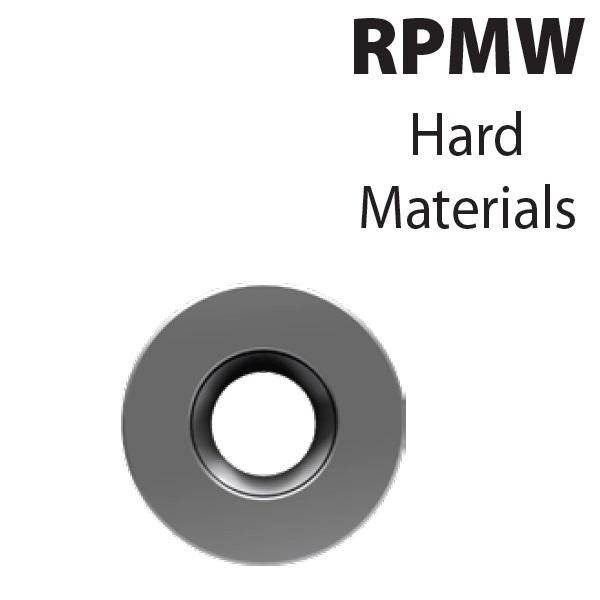 RPMW1003M0-YG713, Frezavimo plokštelė, kietmetalio su danga, metalo frezavimui, YG