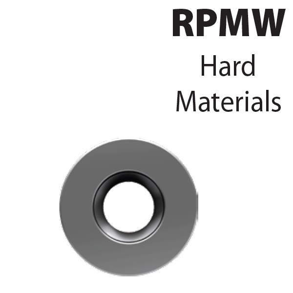 RPMW1003M0-YG602, Frezavimo plokštelė, kietmetalio su danga, metalo frezavimui, YG
