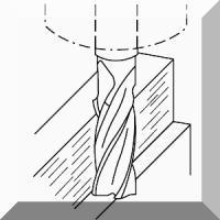 3 Plunksnų frezos Aliuminiui