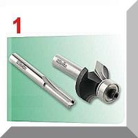 Rankinių frezerių su laikikliu S-6mm; 6,4(1/4)mm; ir 8mm