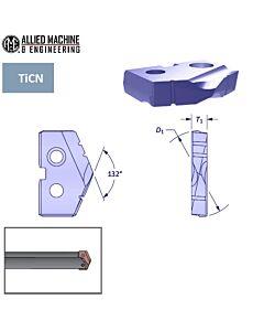 22,00mm gręžimo plokštelė plienui, HSS Premium Cobalt su danga TiCN