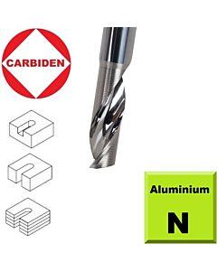 4mm x 10 x 50 , Z1 Freza kietmetalinė, poliruota, Aliuminiui ir Aliuminio kompozitui, CARBIDEN