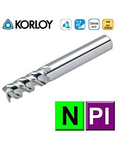1mm x 3 x 4c x 50 ,Z3, H-50, Aliuminiui kietmetalio freza, KORLOY, APFE3010-050