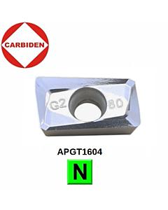 APGT1604PDER-G2 KH01, Frezavimo plokštelė aliuminiui, CARBIDEN