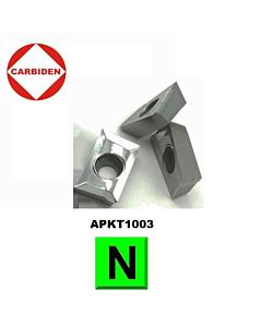 APKT1003PDER-MA KH01 Frezavimo plokštelė su danga, kietmetalinė, aliuminiui frezuoti, CARBIDEN