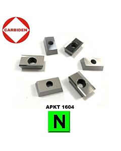 APKT1604PDER-MA KH01 Frezavimo plokštelė, kietmetalinė, aliuminiui frezuoti, CARBIDEN