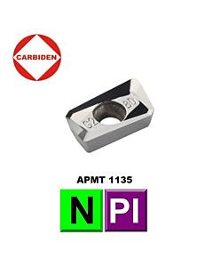 APMT113508PDFR-G2 KH01, Frezavimo plokštelė, kietmetalinė, poliruota, aliuminio ir plastiko frezavimui, CARBIDEN
