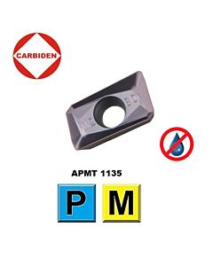 APMT1135PDER DL1250, Frezavimo plokštelė, nerūdijančiam plienui ir plienui, CARBIDEN