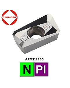 APMT160408PDFR-G2 KH01, Frezavimo plokštelė, kietmetalinė, poliruota, aliuminio ir plastiko frezavimui, CARBIDEN