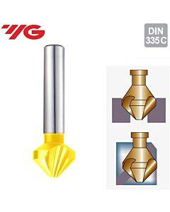 Ø16.5xØ10x60-90˚, Giliintuvas 3pl., 90°, HSSCo8%, su TIN danga, YG1, C1239165