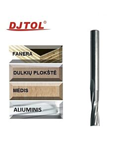 6mm x 122 x 6 x 50 kietmetalinė freza medienai, 2 plunksnų, DJTOL