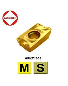 APKT1003PDER-SCT CTC5235 frezavimo plokštelė, kietmetalinė, nerūdijančiam plienui ir titano lydiniams, CARBIDEN, 11582506