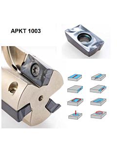 APKT1003PDER-SCT CTP2235 Frezavimo plokštelė su danga, kietmetalinė, universali, CARBIDEN, 11325569