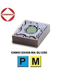 CNMG120408-MA DL1250, Tekinimo plokštelė, nerūdijančiam plienui ir plienui, CARBIDEN