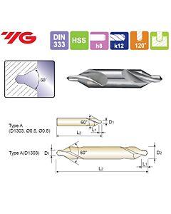 0,5X3,15X0,8X25mm, Centruotė, HSS, forma A, YG, D1303005