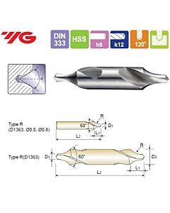1.6X4X4X35.5mm, Centruotė, HSS, Forma R,, YG, D1363016
