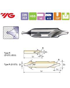 1.6X4X5X35.5mm, Centruotė, HSS, Forma R, Kairinnis, YG, D1373016