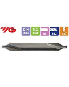 2,5 x 6,3 x 3,1 x 45mm, Centruotė standartinė DIN333, kietmetalinė, YG