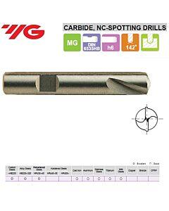 10 x 10 x 24 x 70mm, Centravimo grąžtas NC- 142°, Kietmetalinis, D5320100