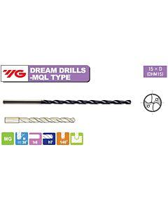 6 x 6 x 109 x 149 mm, Grąžtas kietmetalinis su vidiniu aušinimu, Extra Ilgas Dx15, YG, DHM15060