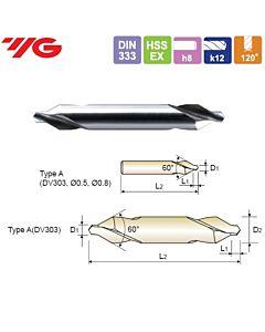 0,5X3,15X0,8X25mm, Centruotė HSS-EX, forma A, YG, DV303005