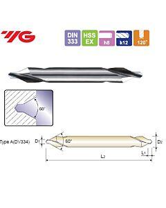 5X14X6.3X120mm, Centruotė Ilga, HSS-EX, forma A, YG, DV334050