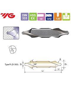 2.5X6.3X6.3X45mm, Centruotė, HSS-EX, Forma R,, YG, DV383025