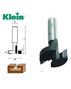 28 mm x I-8 / 21 x S-12 x L-65, Z-2, T- Formos freza su kietmetaliniais dantukais, Klein
