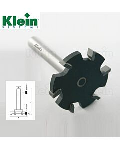 52mm x B-6,5 x S-12 x Z-6, T - freza su kietmetalio dantukais, Klein