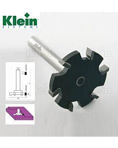 52mm x B-6,5 xS-12 x L-83 x Z-6, T - freza su kietmetalio dantukais, Klein