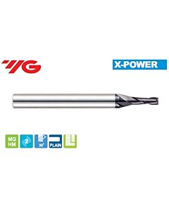 1 x 4 x 2,5 x 40mm, Z - 2, Kietmetalio freza X-POWER, YG, EM810010