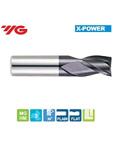1 x 4 x 2 x 35mm, Z - 3, Kietmetalio freza X-POWER, YG, EM836010