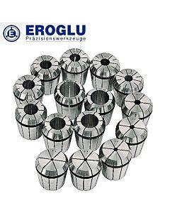 Spyruokliniai laikikliai ER-32, 470 E, 2 - 20mm, poliruotas, tikslumas 0.006mm, DIN6499, EROGLU