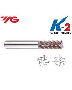 Kietmetalio freza galutiniam-švariam darbui, D-6mm, l-16, d-6, L-50, Z-6, 45 laipsnių vija su danga, YG