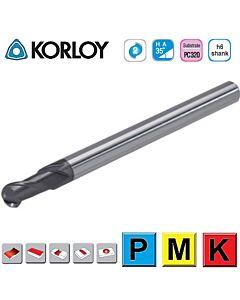 R-1 x 2mm x 4 x 6c x 50 ,Z2, H-35, Kietmetalio freza su AlTiN danga, I-Plius, plienui frezuoti, KORLOY, IPBE2020-050