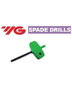 Torx 9, hand driver 1,5 Spade Drills, YG
