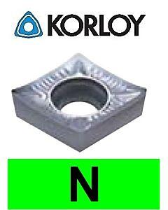 """Aliuminio tekinimo plokštelė su """"H"""" tolerancija, CCHT060208-AK H01, KORLOY"""