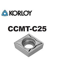 CCMT060202-C25 CN2500, KORLOY, Tekinimo plokštelė KERMET atspari smūgiams ir vibracijoms