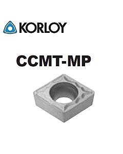 CCMT09T308-MP CN2500, KORLOY, Tekinimo plokštelė KERMET atspari smūgiams ir vibracijoms