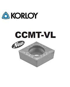 CCMT09T308-VL CN2500, KORLOY, Tekinimo plokštelė KERMET atspari smūgiams ir vibracijoms