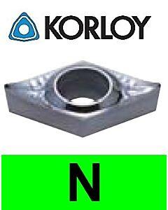 """Aliuminio tekinimo plokštelė su """"H"""" tolerancija, DCHT070204-AK H01, KORLOY"""