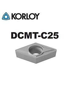 DCMT11T308-C25 CN2500, KORLOY, Tekinimo plokštelė KERMET atspari smūgiams ir vibracijoms